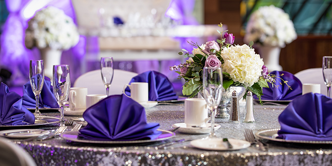 Wedding table at Seneca Allegany Resort & Casino